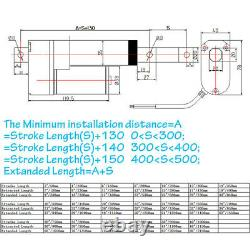 1000N Heavy Duty Linear Actuator Stroke 12V 2-40Electric Motor for Door Lift