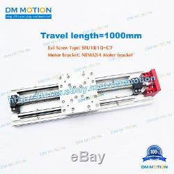 1000mm Linear Stages Module SFU1610 with NEMA34 Motor bracket for DIY CNC PART