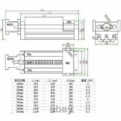 1000mm Long Ball Screw Linear CNC Slide Stroke Stage Actuator Stepper Motor