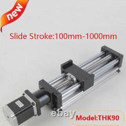 100-1000mm Ball Screw Linear CNC Slide Stroke Long Stage Actuator Stepper Motor