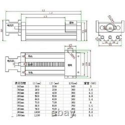100-1000mm electric1605 ball screw linear platform actuator With steper motor