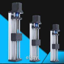 100/200/300mm CNC Linear Guide Rail Slide Stage Actuator +Nema 23 Stepper motor