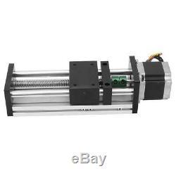 100mm Linear Motion Ball Screw Guide Rail Sliding Table+Nema23 57 Stepper Motor