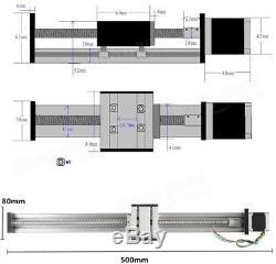 1204 Ball Screw Linear Slide Stroke 400 Long Stage Actuator + 42mm Stepper Motor