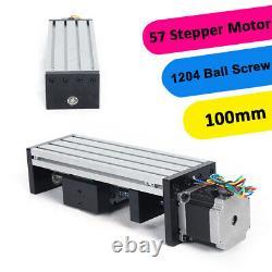 1204 ball screw 57 series stepper motor 80 double track precision sliding table