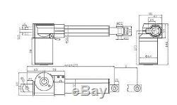 12VDC Electric Linear Actuator Motor 400mm 16 Stroke Linear Controller 6000N