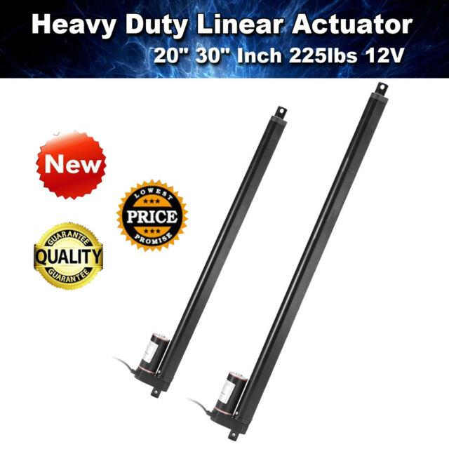 12v 20''30'' Linear Actuator Electric Motor For Auto Lift 900n/225lbs Heavy Duty