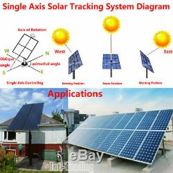 12V Single Axis Solar Tracking Controller + 200-450mm Linear Actuator Motor Kit