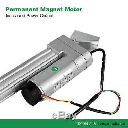 1500N Linear Actuator Hall Control Synchronous Motor 150-450mm 12mm/s Low Noise