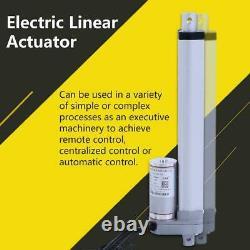 1500N Stroke 200-750mm Metal Linear Actuator Lift Electric Motor Bracket DC 12V