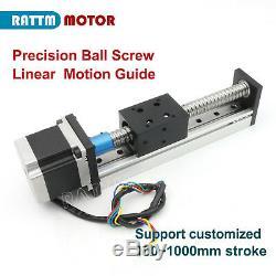 1605 CNC Z Axis Ball Screw Linear Slide Stroke Rail L300mm+Nema 23 stepper motor