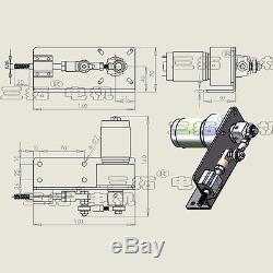 1Pc CUSTOM MADE DC24V Worm Gear Motor 5/10mm Linear Actuator Reciprocating Motor