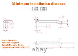 2000N 449lbs 40inch 48inch Linear Actuator Motor 12V Heavy Duty Remote Control