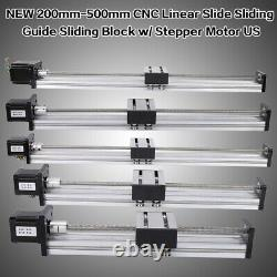 200-1000mm Travel Slide CNC Linear Actuator Stage Lead Screw 42/57 Stepper Motor