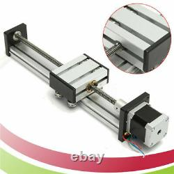 200-500mm CNC Linear Actuator Stage Lead Screw Slide Rail Guide+42 Stepper Motor