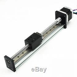 20 Travel Sliding Table Linear Module Stage L500mm Roll Ballscrew Nema23 Motor