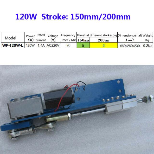 220v Reciprocating Linear Actuator Diy Driver Cycle Motor Stroke 150/200mm 120w