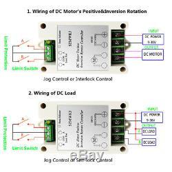 2PCS 12V Linear Actuators DC Motor +Forward Reverse Control Kits +Mount Brackets