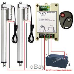 2PCS 12 Linear Actuators 12V DC Motor With Remote Control for Auto Lifting System