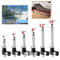 2''-16'' Linear Actuator Motor 750-6000N Door Opener Heavy Duty Bracket Lift 12V
