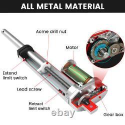 2-18 Inch Stroke Linear Actuator 1500N/1000N Pound Max Lift 12V Volt DC Motor