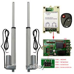 2 Dual 10 Linear Actuator DC12V Motor With Remote Control for Auto Lifting System