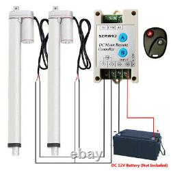 2 Dual 1500N 18 12V Linear Actuator +Motor Controller for Auto Home Application