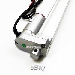 2 Dual 18 Stroke Linear Actuator 12V Motor&Remote Control Heavy Duty 330lbs Car