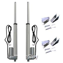 2 Dual Linear Actuator 10'' Stroke 220lbs Max Load 100KG Electric 12V Motor Lift