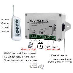 2 Heavy Duty Linear Actuator 10 12V DC Motor & Remote Switch & Brackets