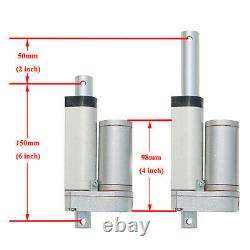 2 Linear Actuators 2 Stroke 150KG 330lbs DC12V Motor&Wireless Controller System
