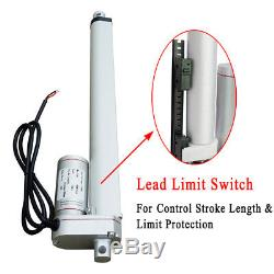2 PCS Linear Actuator Motor 1500N 16 Electric Auto Lift 12V Medical Bed/Door