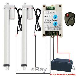 2 Set 18 12V DC 220lbs 14mm/s Linear Actuator &Wireless Motor Control Kit