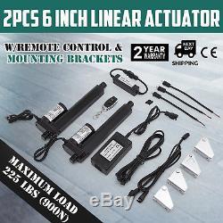 2pcs 6 Stroke Linear Actuator 12V Electric Motor Kit Boat Recliner Medical