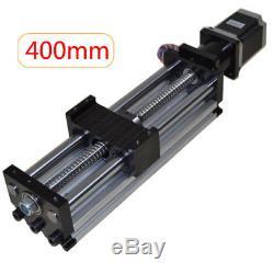 2pcs Ball Screw Linear CNC Slide Stroke 400mm Liner Actuator Stepper Motor US