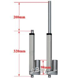 2x 12Volt 8 Linear Actuator DC Motor 330lbs Max Lift&Wireless Remote Controller