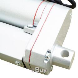 2x 4 12V 1500N Linear Actuator Heavy Duty Electric Motor+Mount Bracket for Lift