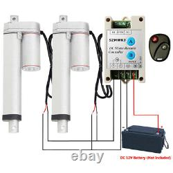2x 8 12V DC Linear Actuators With Remote Motor Controller for Auto Wedding System