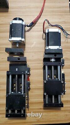 2x Liner rail z-axis 3 travel with stepper motor