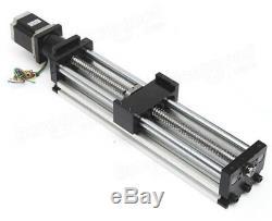 300mm Effective Travel Linear Slider With Nema23 Stepper Motor CNC Ball Screw