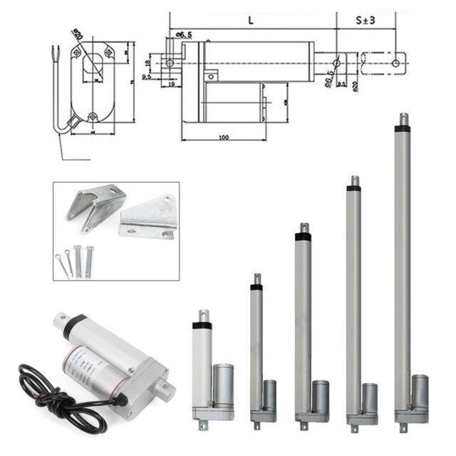 330lbs/1500n Linear Actuator Motor Door Opener Heavy Duty Bracket Lift 12v 2-32