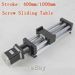 400mm/1000mm Ball Screw Linear CNC Slide Stroke Liner Actuator Stepper Motor