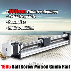 400mm Linear Actuator 1605 Ball Screw Motion Guide Rail with Motor For CNC Router