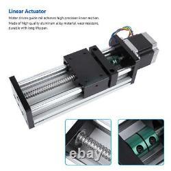 400mm Stroke Linear Guide Rail Slide Sliding Table with Nema17 42 Stepper Motor