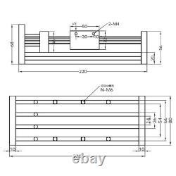 4 / 8/ 12inch GGP CNC ball screw linear guide slide + Nema 23 Stepper motor