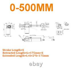 500mm 800mm 900mm DC 12V Linear Actuator Motor 6000N Heavy Duty Mounting Bracket