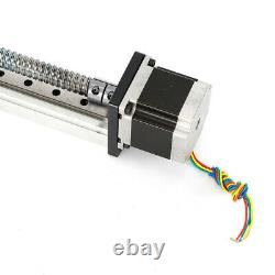 500x40mm Motorized CNC Linear Stage Actuator Rail Guide Slide Motion Nema23 24V