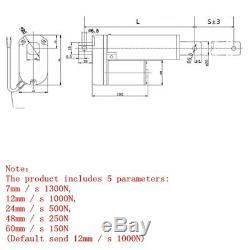 50-1000m Electric Putter Stroke Electric Linear Actuator Putter Motor DC 12V-48V