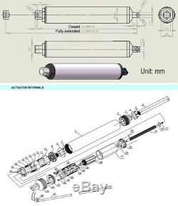 50-400mm Stroke Electric Linear Actuator Motor DC24V 130mm/s High Speed Putter