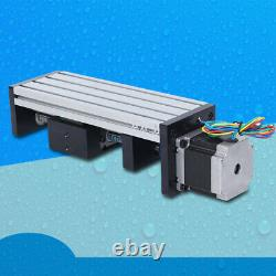 57 Motor 1204Ball Screw Linear Double Track Precision Sliding 100MM Drilling UPS